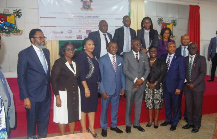 Lagos State Series III Signing Ceremony- Joint Trustees with Governor Babajide Sanwo Olu